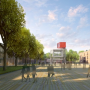 Le projet de Renzo Piano avec, au milieu de la place d'Armes, le