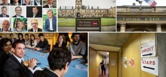 L'année 2016, dans l'enseignement supérieur. //©Eric TSCHAEN/REA | Romain Beurrier/REA | Hamilton / REA | Patrick Allard / R.E.A