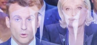 Macron Le pen //©Romain Beurrier/REA