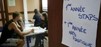 Devant l'afflux de candidats supplémentaires, les universités pourraient procéder à un tirage au sort dans certaines filières en tension. //©Frédéric Maigrot/REA