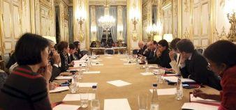 Vendredi 13 novembre 2015, dans la nuit, Conseil des ministres convoqué par François Hollande suite aux attentats en Ile-de-France.