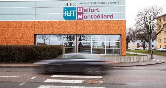 L'IUT de Belfort-Montbéliard. Un nouveau bâtiment inauguré en janvier 2013 et implanté à l'entrée de notre site Belfort Techn'hom, accueille les étudiants du département Génie Civil © Ludovic Godard - UFC