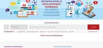 Mis en ligne en juin 2016, le méta-portail IDNeuf rassemble 37.000 ressources de l'enseignemnet supérieur francophone. //©Capture d'écran