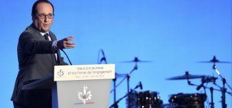 François Hollande souhaite que le nombre de jeunes engagés dans un service civique passe à 350.000 d'ici trois ans. //©christian liewig pool REA