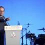 François Hollande, le 11 janvier 2016 lors des voeux à la jeunesse //©christian liewig pool REA