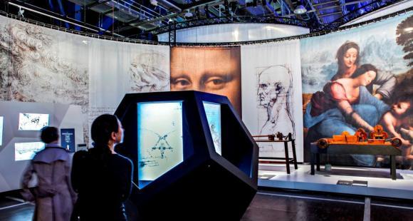 L'exposition «Léonard de Vinci, projets, dessins, machines» jusqu'au 18 août 2013 à la Cité des sciences et de l'industrie // © eppdCSI / Philippe Lévy