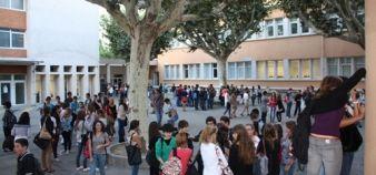 Lycée Alphonse-Daudet de Tarascon - Rentrée des élèves //©Sophie de Tarlé