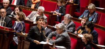 Najat Vallaud-Belkacem plaide en faveur d'une loi réglementant l'entrée en master, applicable à la rentrée 2017. //©Hamilton / R.E.A