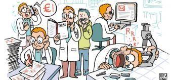 En 2017, les professionnels de l'enseignement supérieur et de la recherche continuent d'être peu enthousiastes lorsqu'ils évoquent leurs conditions de travail. //©Julien Revenu