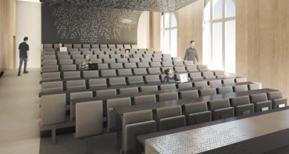 """L'école Mines ParisTech propose aux donateurs d'""""adopter"""" un siège de son amphithéâtre Schlumberger. // © A Concept"""