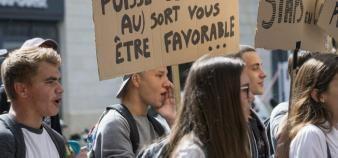 Le 19 septembre, des étudiants de Staps ont dénoncé les conditions difficiles de rentrée de certaines universités. //©Sebastien ORTOLA/REA