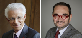 Didier Kling (à gauche) et Yves Portelli (à droite) alertent sur les conséquences de la réduction de la taxe pour frais de chambre, programmée par le PLF 2018. //©F. Daburon / CCIP