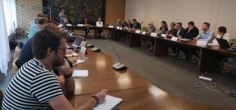 La commission d'accès à l'enseignement supérieur de l'académie de Lille ouvre sa deuxième réunion de travail, mardi 5 mai 2018. //©Laura Taillandier
