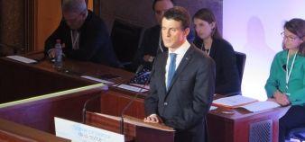 Manuel Valls a annoncé une série de mesures lors de la Grande conférence de santé, dont le rapprochement des filières paramédicales de l'université, ainsi que le développement des expérimentations en Paces. //©Virginie Bertereau