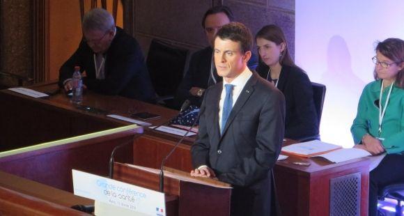 Le Premier ministre Manuel Valls, lors de son discours de clôture de la Grande conférence de santé.