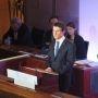 Le Premier ministre Manuel Valls, lors de son discours de clôture de la Grande conférence de santé. //©Virginie Bertereau