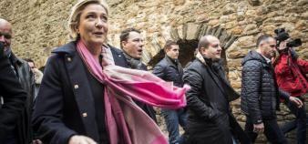 Dans un entretien à EducPros, Marine Le Pen s'exprime sur des sujets sur lesquels on a peu l'habitude de l'entendre : frais de scolarité, sélection, APB... //©Jean Claude MOSCHETTI/REA