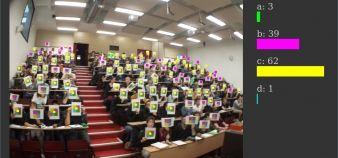Utilisation de l'application Votar en amphi à l'université de technologie de Compiègne //©utc