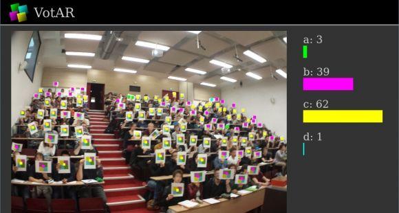 Utilisation de l'application Votar en amphi à l'université de technologie de Compiègne