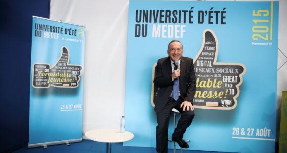 Le président du Medef, Pierre Gattaz, a signé avec la CPU, la CGE et la Cdefi un pacte pour l'enseignement supérieur