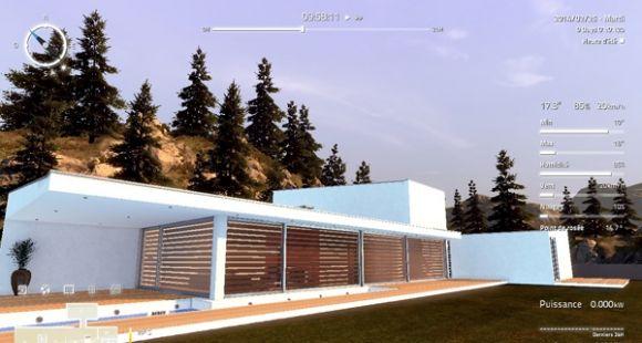Une vue de la maison virtuelle Domus, projet de l'université de Reims Champagne-Ardenne récompensé au salon Educatec-Educatice