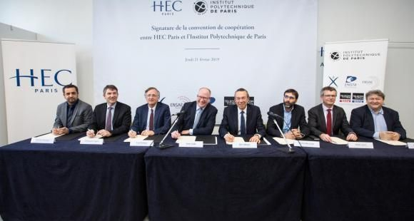 Jeudi 21 février 2019, HEC Paris et les cinq écoles fondatrices de l'Institut Polytechnique de Paris ont officialisé leur coopération.