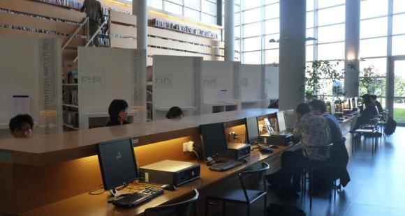 La bibliothèque d'Audencia