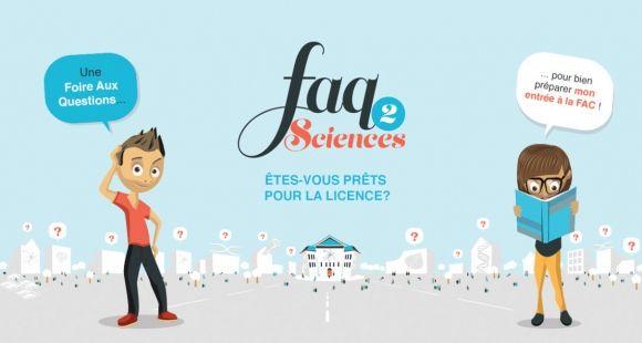 faq2sciences, interface dédiée aux lycéens intéressés par la licence.