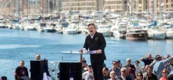 Jean-Luc Mélenchon propose de dissoudre les Comue. //©Ian HANNING/REA