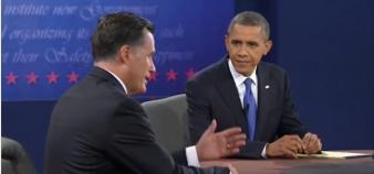 Obama et Romney lors de leur 3ème débat