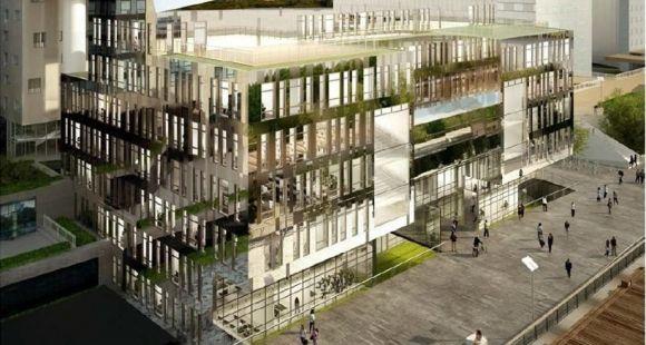 Vue d'artiste du nouveau bâtiment de l'IESEG à Paris