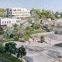 Le futur campus de la faculté de médecine Lyon Sud, selon le projet architectural. Avec quatre bâtiments supplémentaires, il permettra d'accueillir 2.000 étudiants de plus. © AUA Paul Chémétov