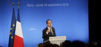 Prises séparément, les mesures prises par François Hollande pendant le quinquennat pour l'enseignement supérieur recueillent l'adhésion. //©Nicolas Tavernier / R.E.A