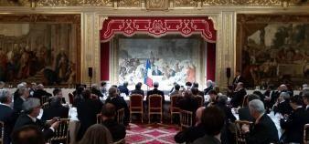 Le président de la République a convié les présidents d'université à un dîner à l'Elysée pour la troisième année consécutive. //©CPU