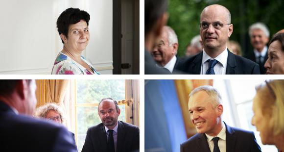 Frédérique Vidal, Jean-Michel Blanquer, Édouard Philippe et François de Rugy, étaient présents le 29 août 2018.