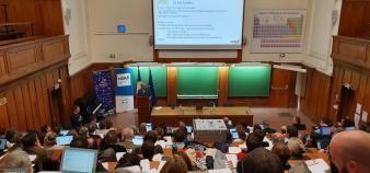Le 17 octobre, les inspecteurs généraux chargés de la réforme du bac ont présenté les nouveaux programmes aux responsables d'écoles d'ingénieurs. //©Thibaut Cojean