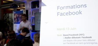 La possibilité de créer des cours directement sur Facebook est actuellement en test. Des annonces sont attendues dans l'année. //©Laurent Cerino/REA