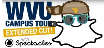 West Virginia University, comme d'autres universités américaines, diffuse sur son site des vidéos filmées par les étudiants avec les lunettes Snapchat. //©Capture d'écran / WVU