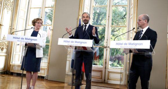Édouard Philippe lance avec Muriel Pénicaud et Jean-Michel Blanquer l'acte 2 de la rénovation du modèle social. Parmi les chantiers : la réforme de l'apprentissage.