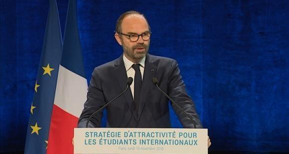 """Édouard Philippe a présenté, le 19 novembre 2018, la stratégie """"Choose France"""" destinée à attirer 500.000 étudiants en mobilité d'ici à 2025."""