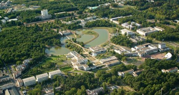 Vue aérienne de l'université d'Orléans