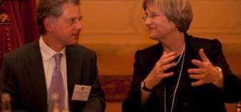 P. Le Corre avec la présidente d'Harvard