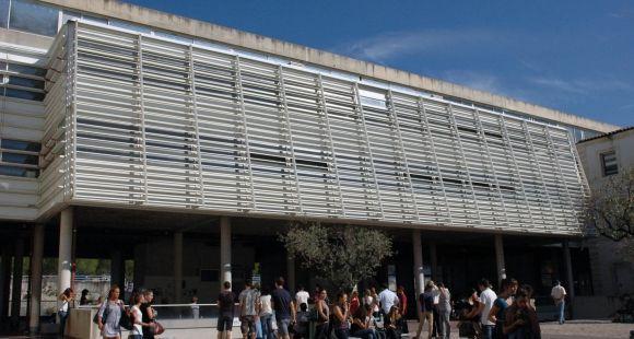La cour du site Vauban, université de Nîmes