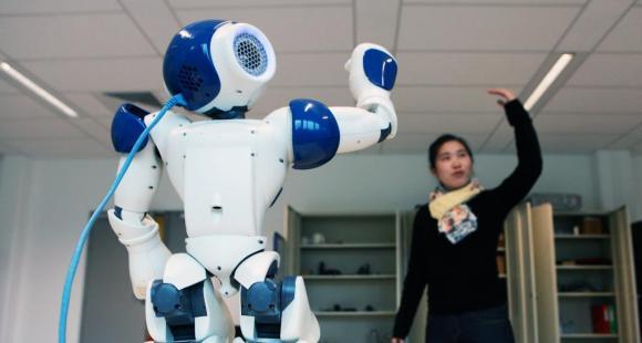 Laboratoire de robotique de l'ENSTA ParisTech. // © Bertrand Desprez