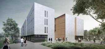 En février 2019, l'Institut de formation aux professions de santé accueillera sur le campus de l'université de Grenoble-Alpes les étudiants en kinésithérapie, médecine, maïeutique et soins infirmiers. //©CHU Grenoble-Alpes