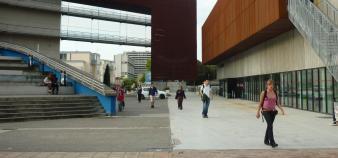 Le conseil d'administration de l'université Toulouse 2 a dû être reporté à cause d'une manifestation intersyndicale. //©Mathieu Oui