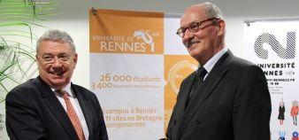 Universités - Rennes - Guy Cathelineau à droite (Rennes 1), Jean-Emile Gombert à gauche (Rennes 2)