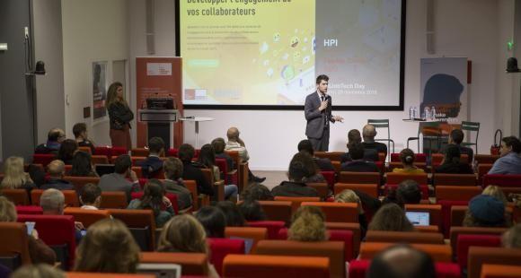 Intervention de Florian Cordel lors du EdJobTech Day organisé par l'EM Lyon le 29 novembre 2018.