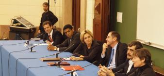 Valerie Pecresse et Richard Descoings à Sciences po - conférence de presse - novembre 2009