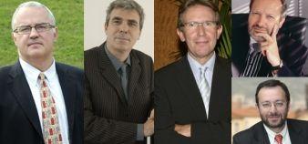 Pierre Dreux, Jean Audouard, Patrick Molle, Bernard Belletante et Andrès Atenza // DR